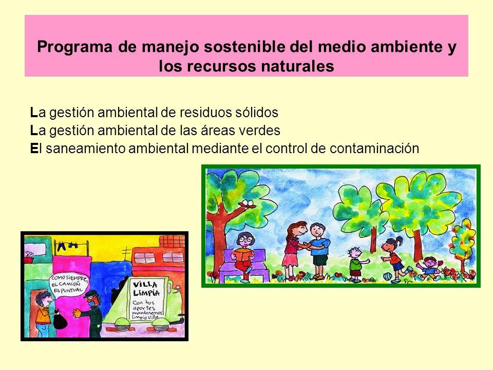 Programa de manejo sostenible del medio ambiente y los recursos naturales