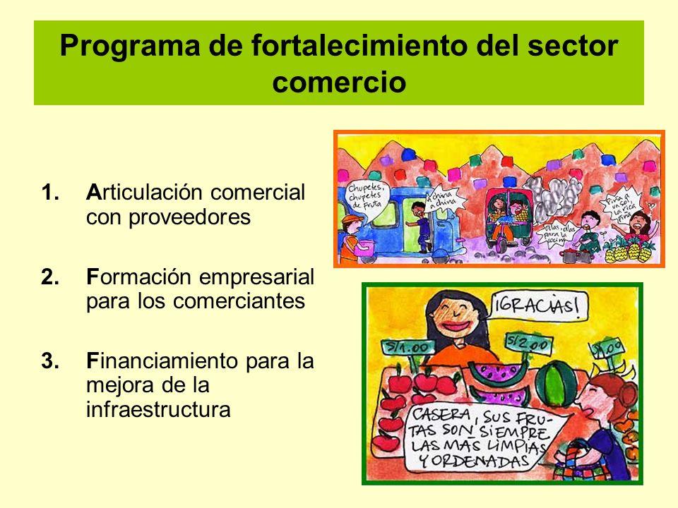 Programa de fortalecimiento del sector comercio