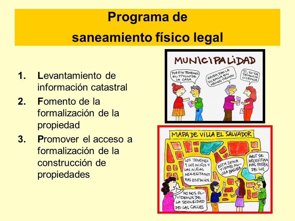 Programa de saneamiento físico legal