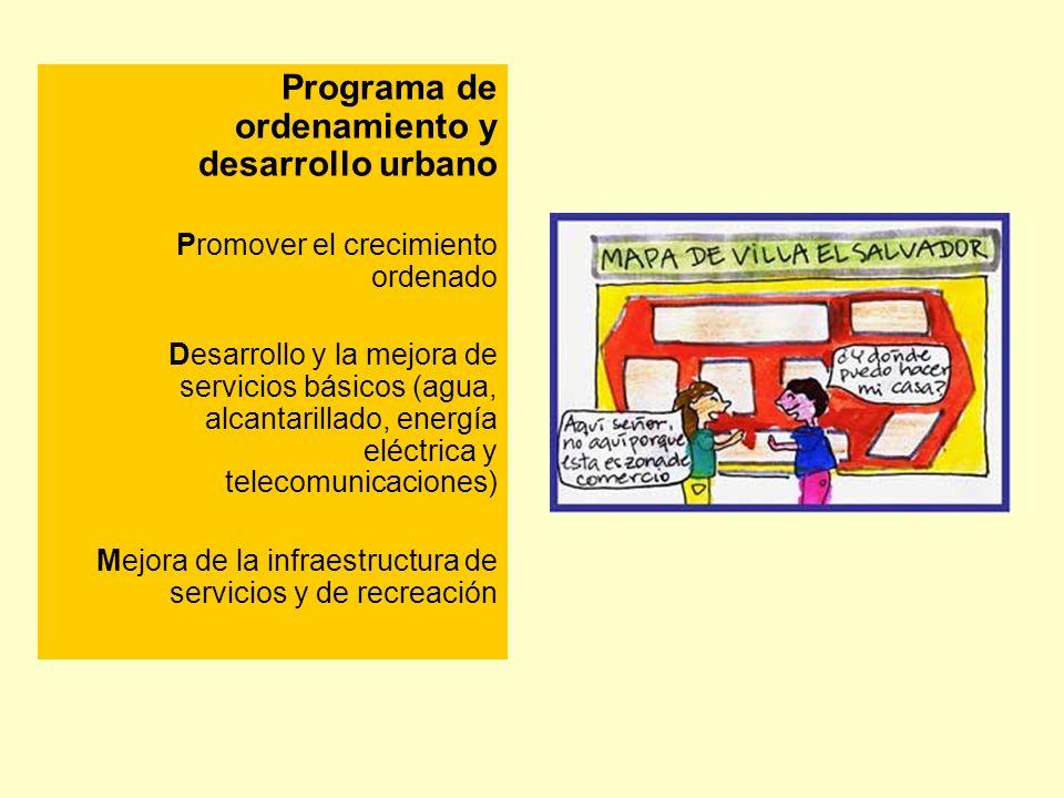 Programa de ordenamiento y desarrollo urbano