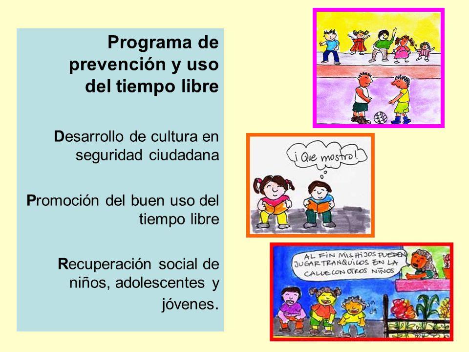 Programa de prevención y uso del tiempo libre