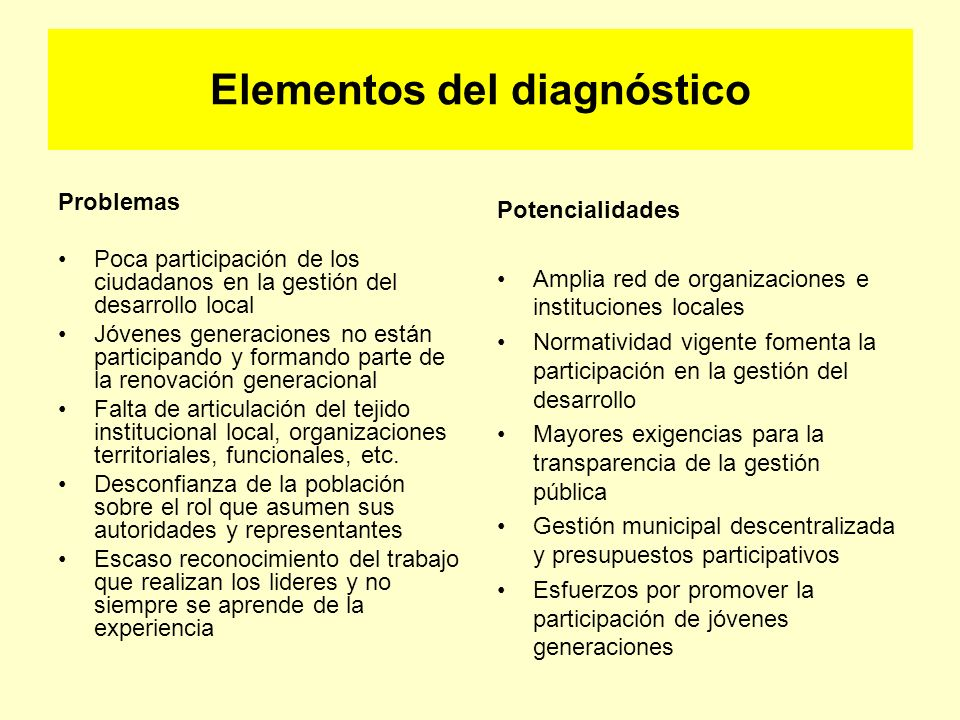 Elementos del diagnóstico