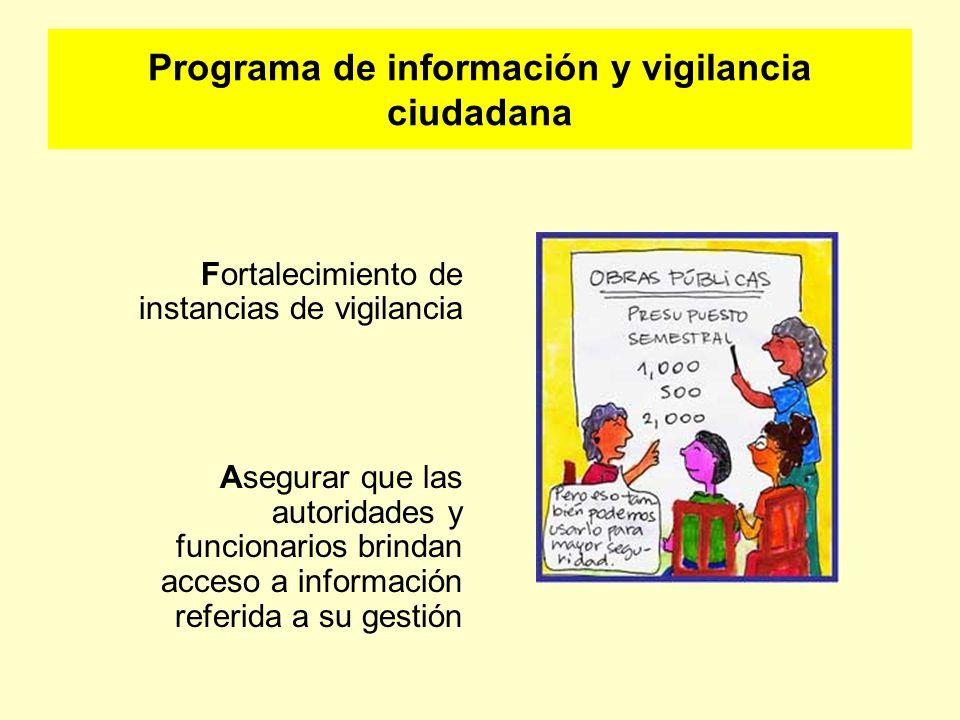 Programa de información y vigilancia ciudadana