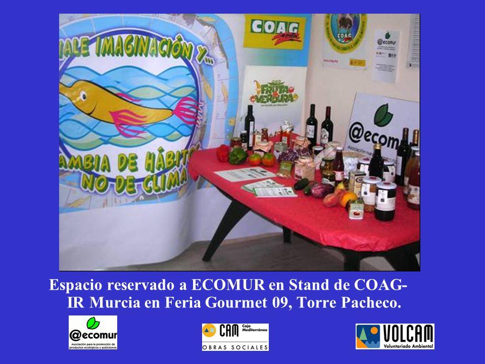 Espacio reservado a ECOMUR en Stand de COAG-IR Murcia en Feria Gourmet 09, Torre Pacheco.