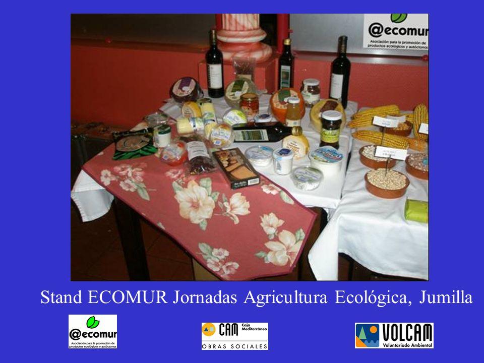 Stand ECOMUR Jornadas Agricultura Ecológica, Jumilla