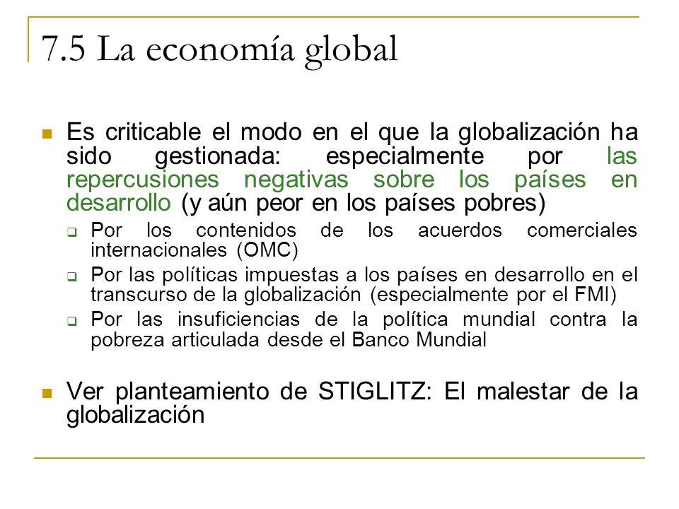 7.5 La economía global