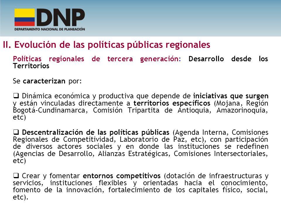 II. Evolución de las políticas públicas regionales