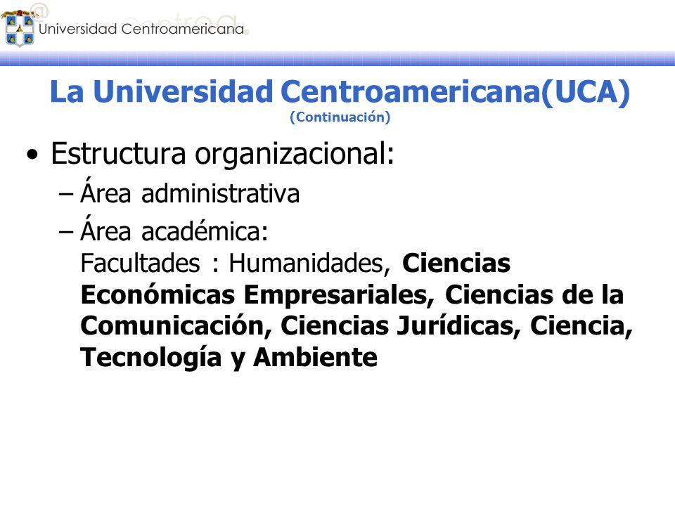 La Universidad Centroamericana(UCA) (Continuación)