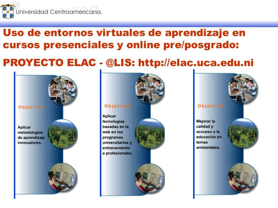 Uso de entornos virtuales de aprendizaje en cursos presenciales y online pre/posgrado: