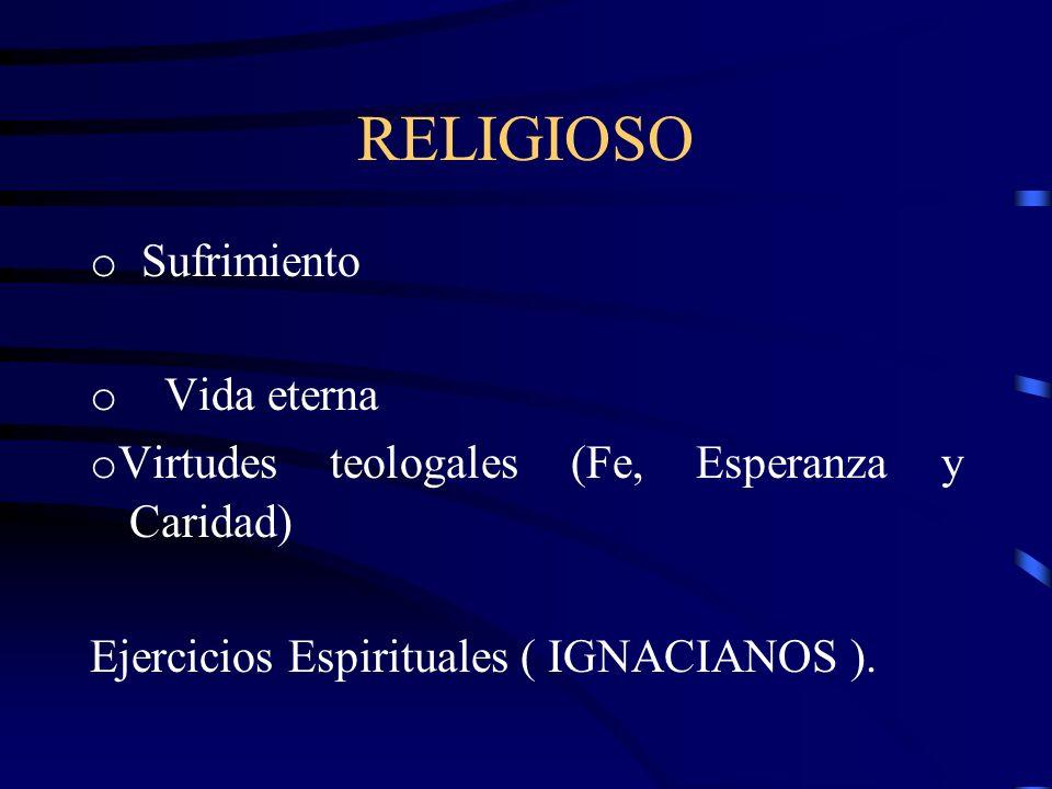 RELIGIOSO o Sufrimiento o Vida eterna