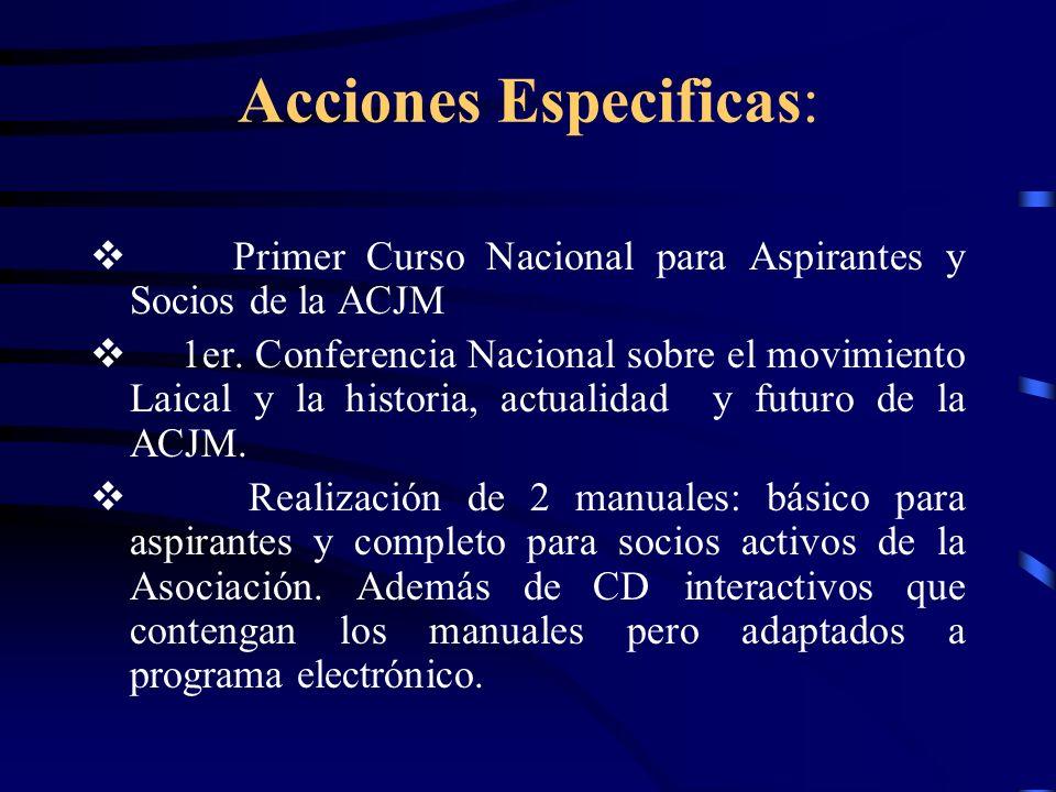 Acciones Especificas: