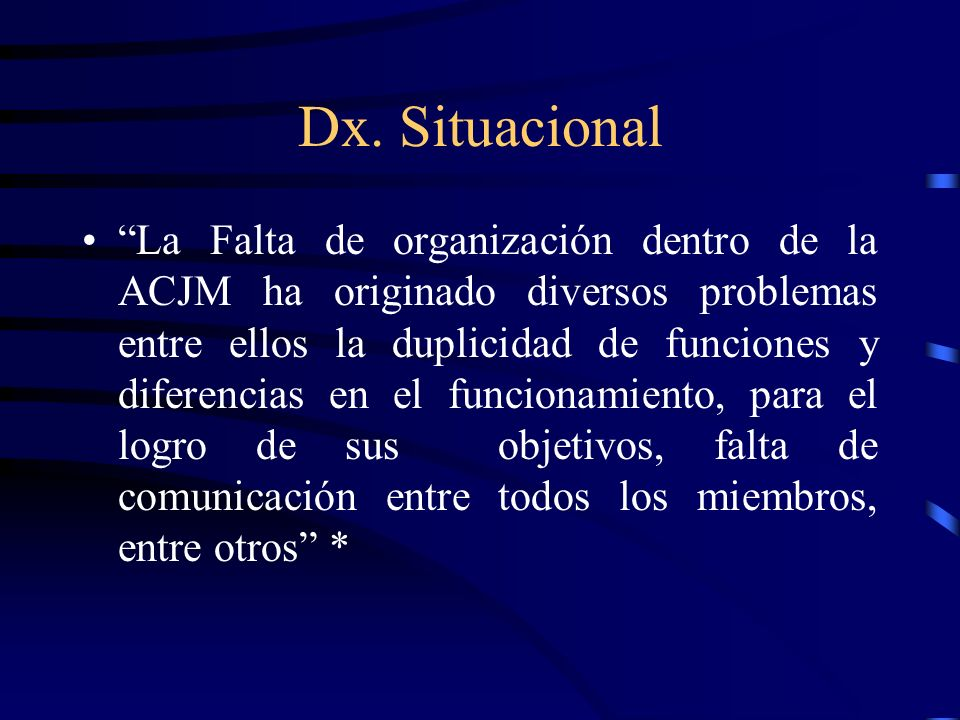 Dx. Situacional