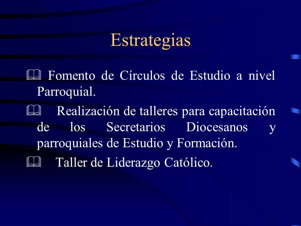 Estrategias & Fomento de Círculos de Estudio a nivel Parroquial.