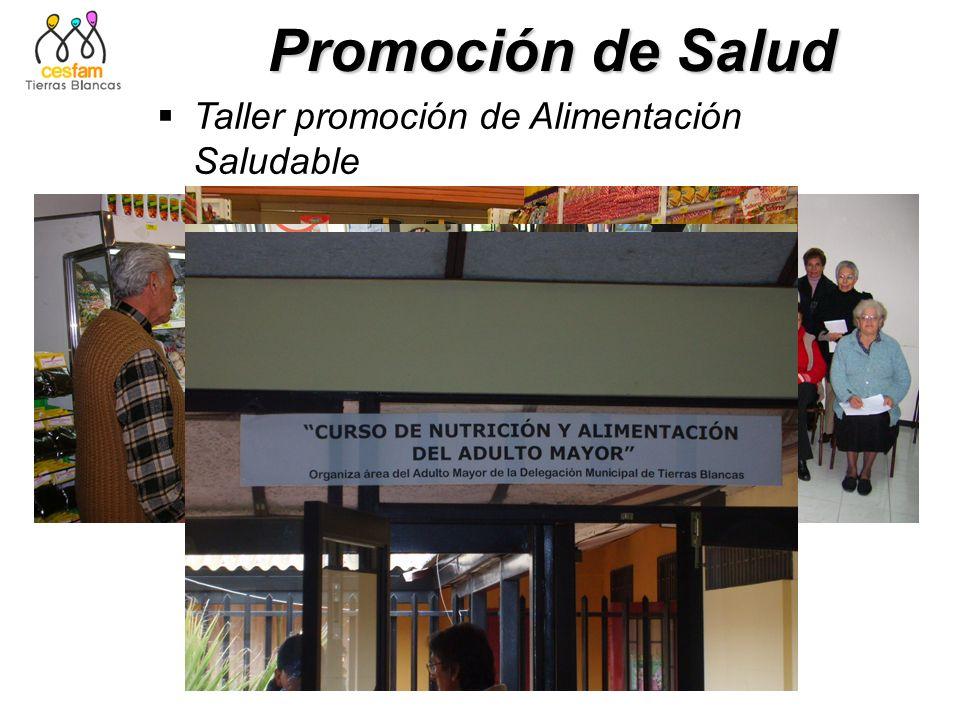 Promoción de Salud Taller promoción de Alimentación Saludable