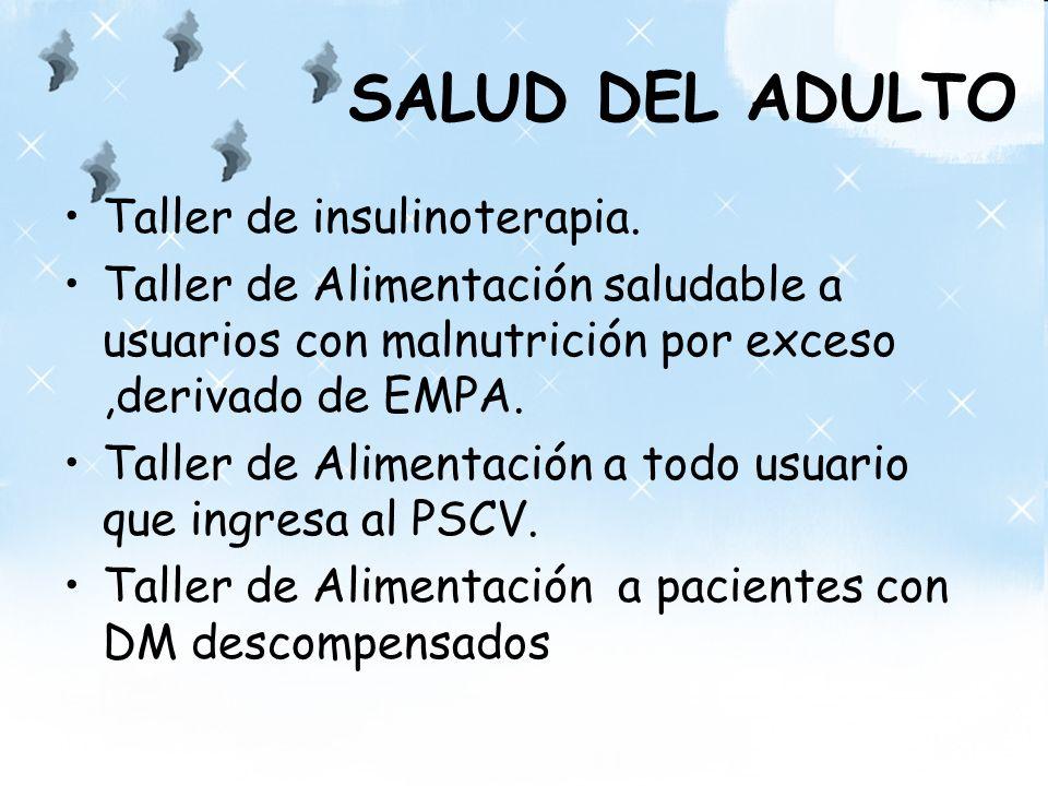 SALUD DEL ADULTO Taller de insulinoterapia.
