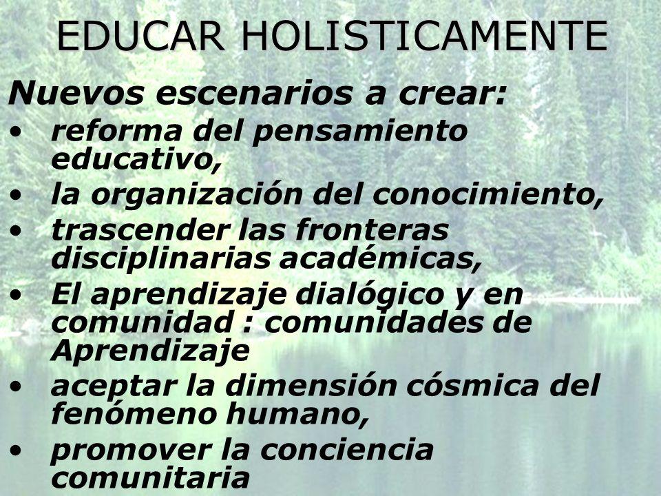 EDUCAR HOLISTICAMENTE