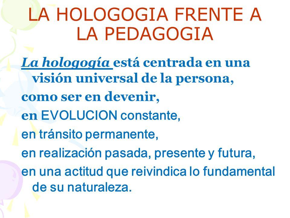 LA HOLOGOGIA FRENTE A LA PEDAGOGIA
