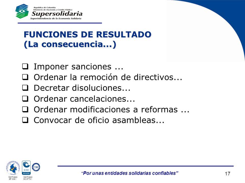 FUNCIONES DE RESULTADO (La consecuencia...)