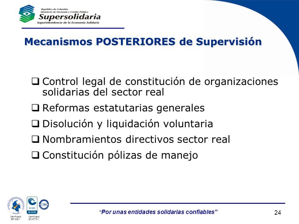Mecanismos POSTERIORES de Supervisión
