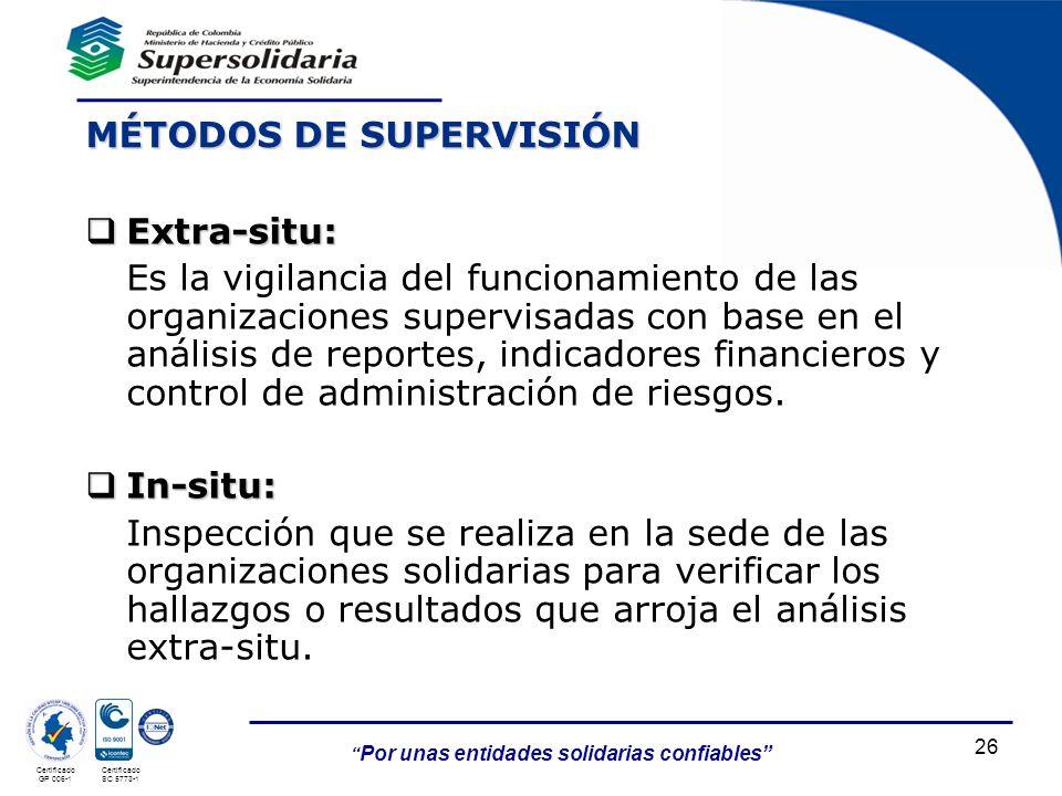 MÉTODOS DE SUPERVISIÓN