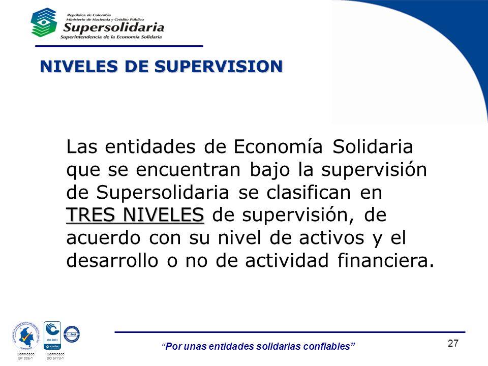 NIVELES DE SUPERVISION