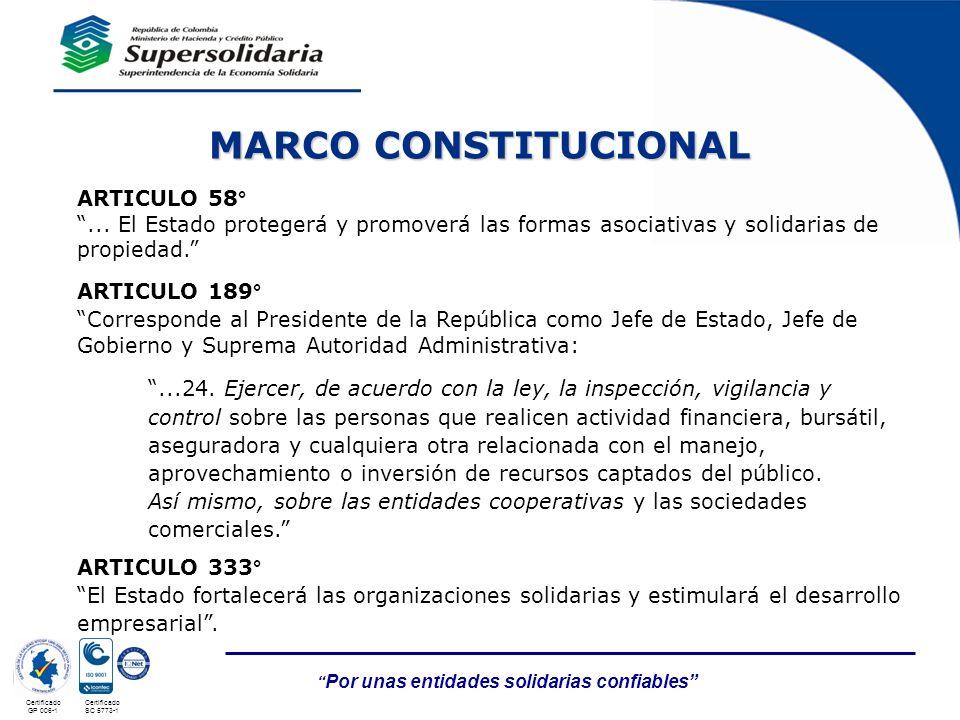 MARCO CONSTITUCIONAL ARTICULO 58°