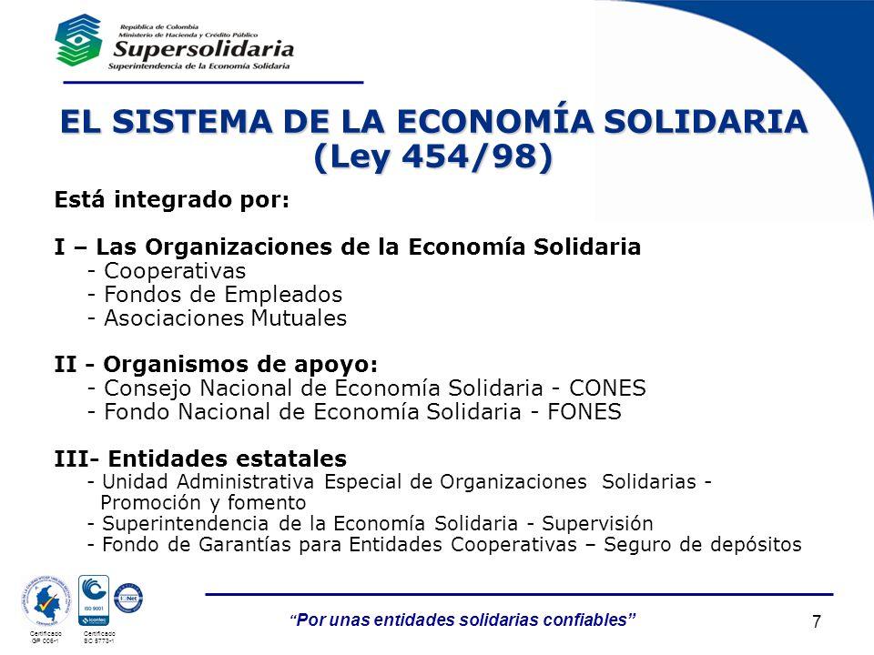 EL SISTEMA DE LA ECONOMÍA SOLIDARIA (Ley 454/98)