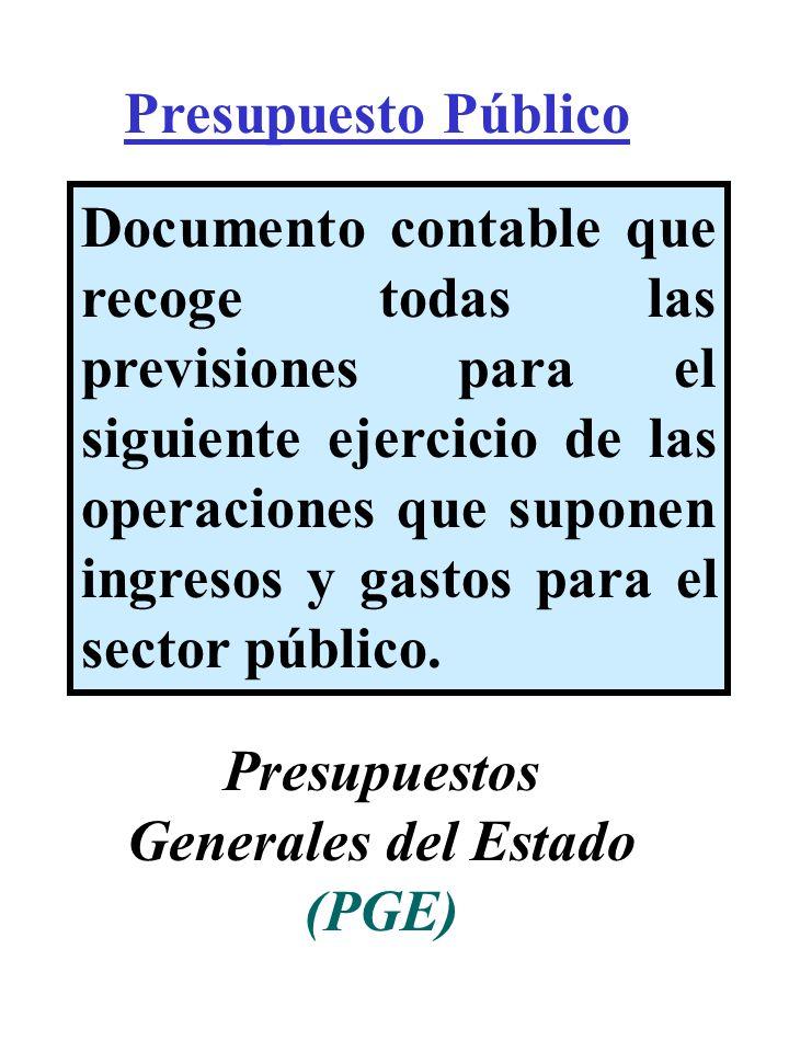 Presupuestos Generales del Estado (PGE)