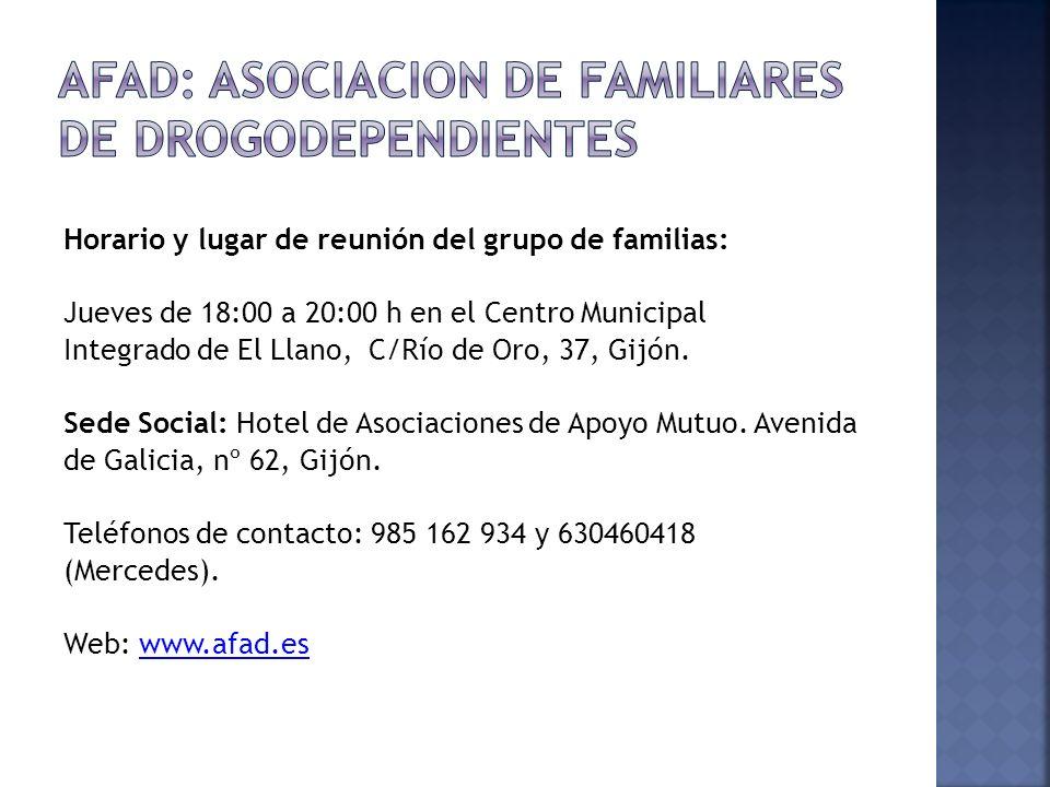 AFAD: ASOCIACION DE FAMILIARES DE DROGODEPENDIENTES