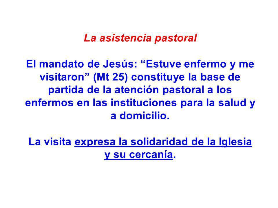 La asistencia pastoral