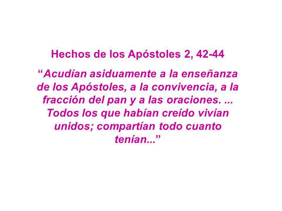 Hechos de los Apóstoles 2, 42-44