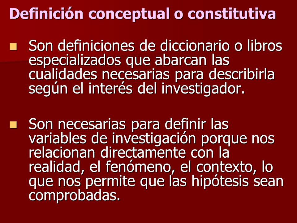 Definición conceptual o constitutiva