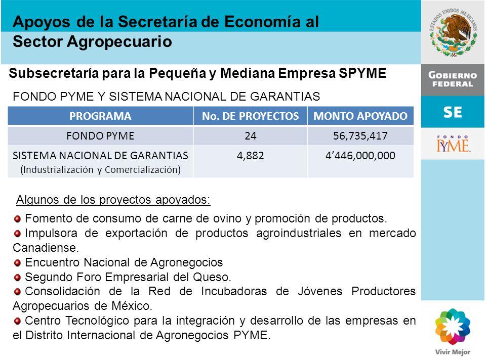 SISTEMA NACIONAL DE GARANTIAS (Industrialización y Comercialización)