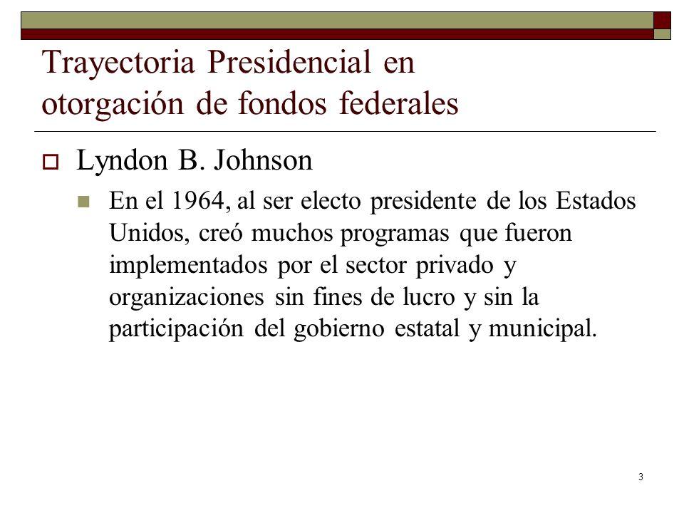 Trayectoria Presidencial en otorgación de fondos federales