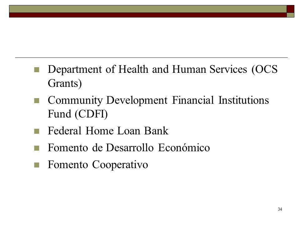 Department of Health and Human Services (OCS Grants)