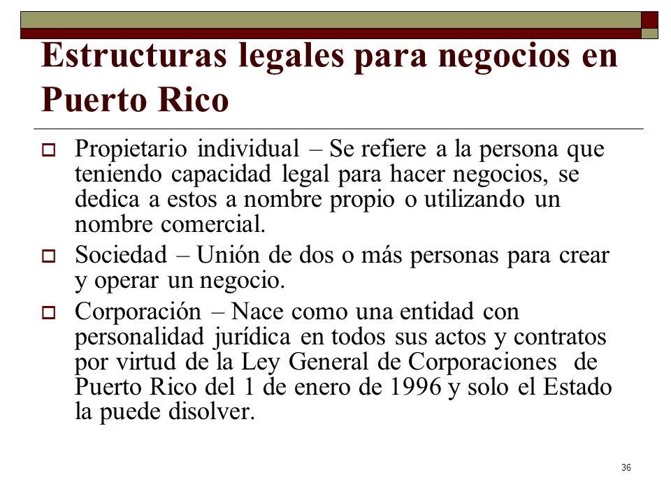 Estructuras legales para negocios en Puerto Rico