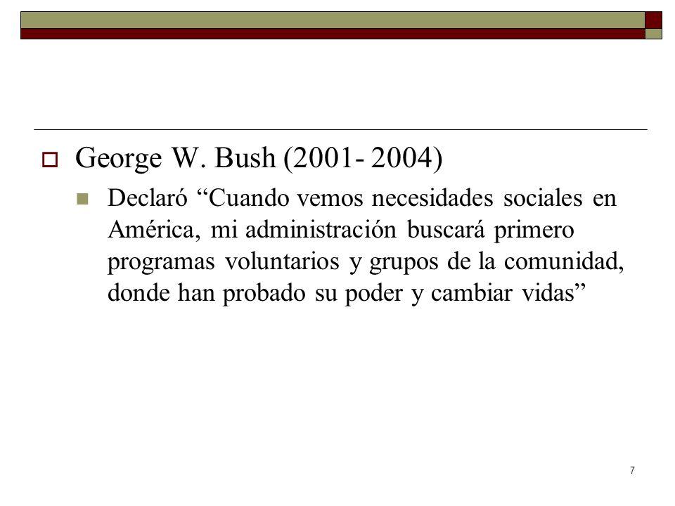 George W. Bush (2001- 2004)