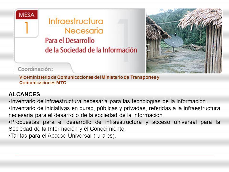Tarifas para el Acceso Universal (rurales).