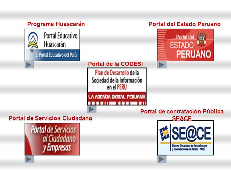 Portal de contratación Pública SEACE