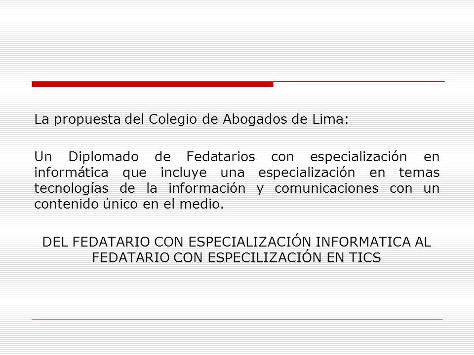 La propuesta del Colegio de Abogados de Lima: