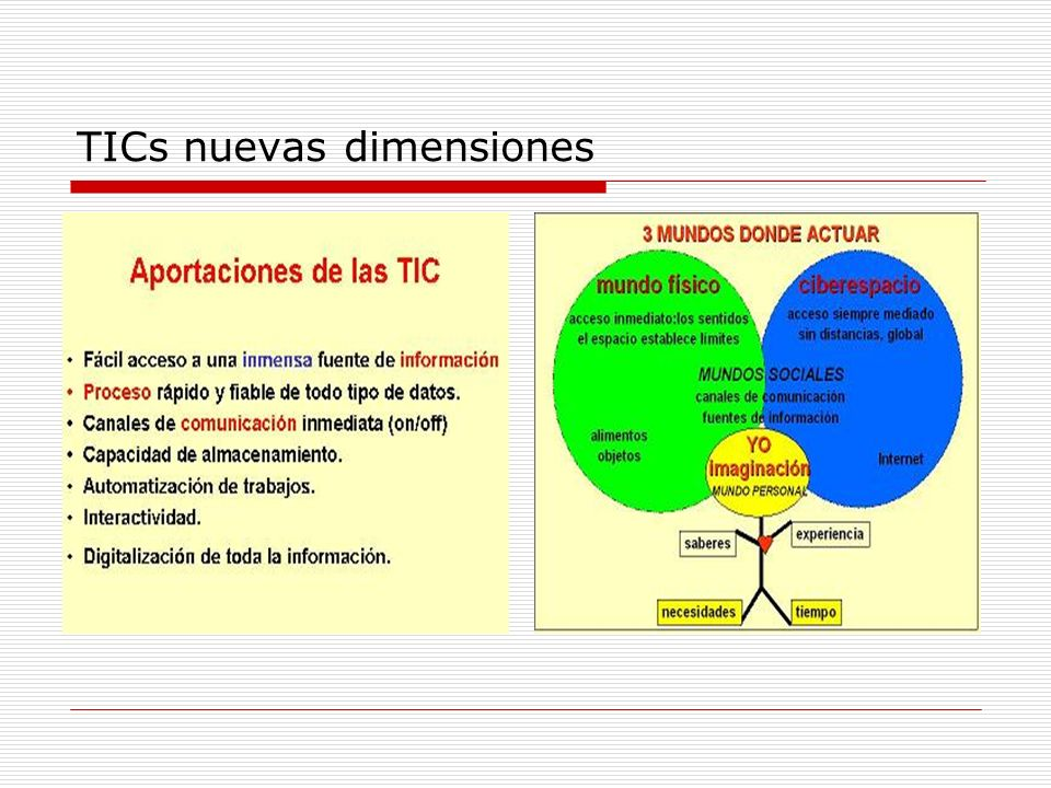 TICs nuevas dimensiones