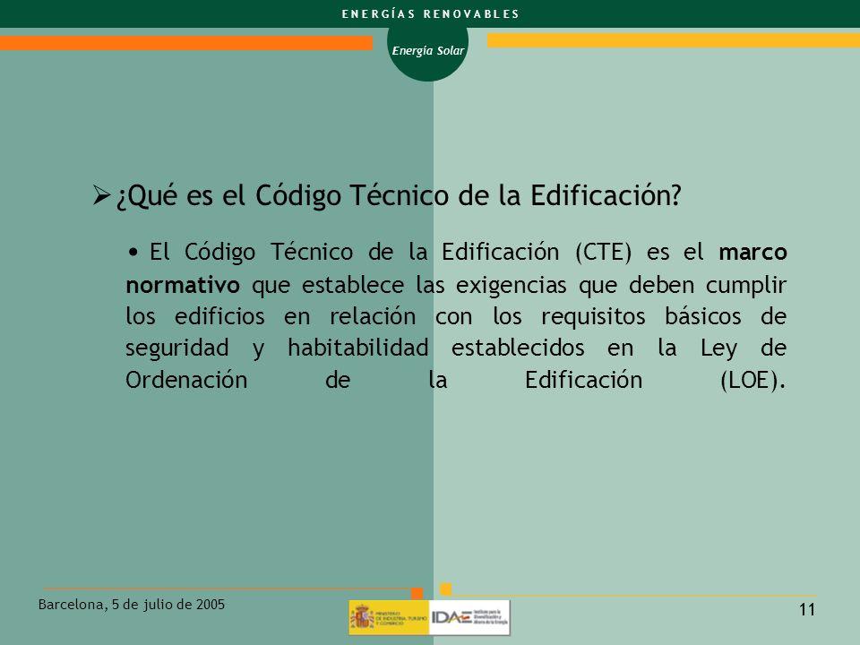 ¿Qué es el Código Técnico de la Edificación