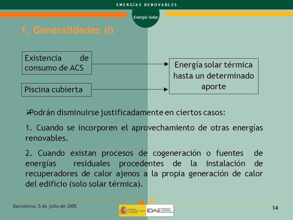 Energía solar térmica hasta un determinado aporte