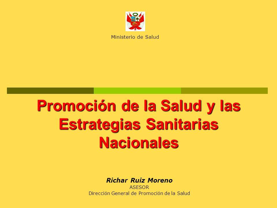 Promoción de la Salud y las Estrategias Sanitarias Nacionales