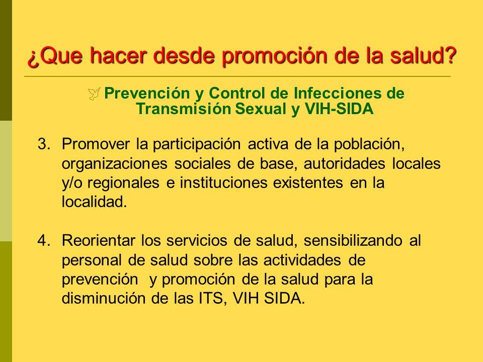 Prevención y Control de Infecciones de Transmisión Sexual y VIH-SIDA