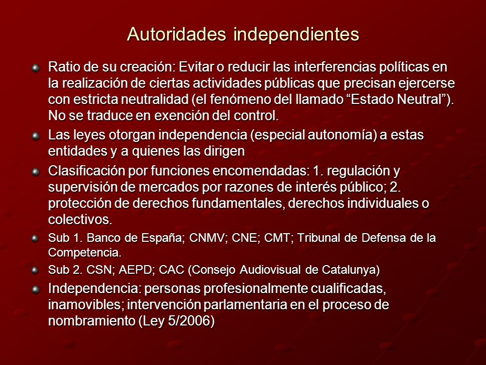 Autoridades independientes