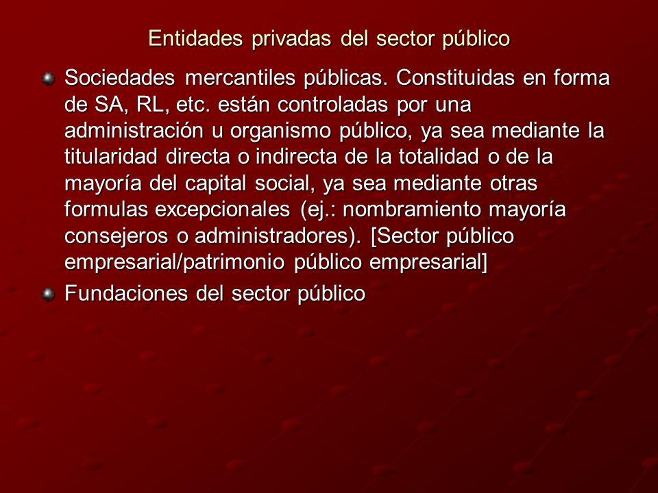 Entidades privadas del sector público