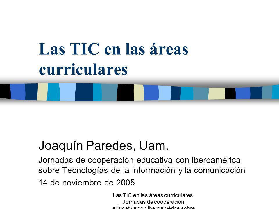 Las TIC en las áreas curriculares
