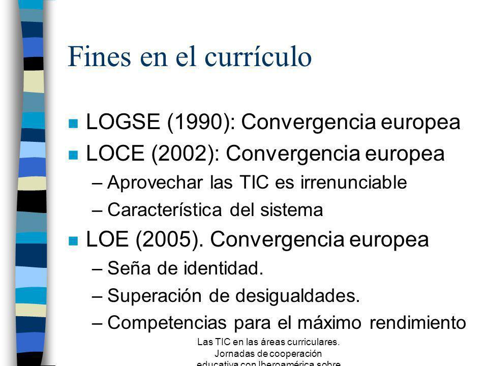 Fines en el currículo LOGSE (1990): Convergencia europea