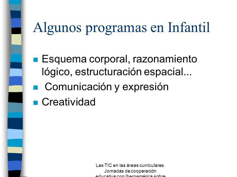 Algunos programas en Infantil